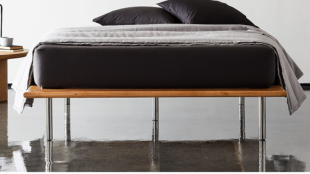 Simms Natural Wood Platform Bed - Image 1 of 11