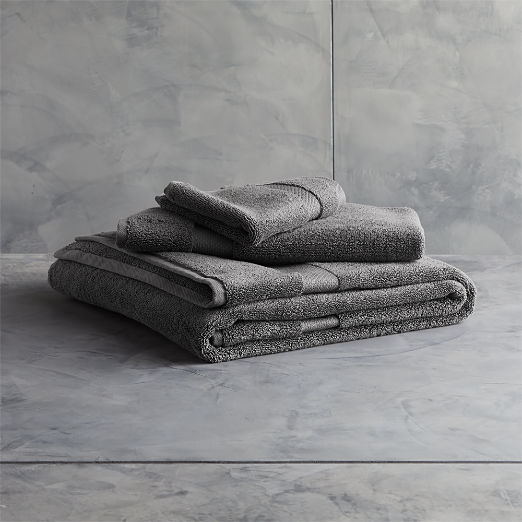 Slattery Dark Grey Bath Towels