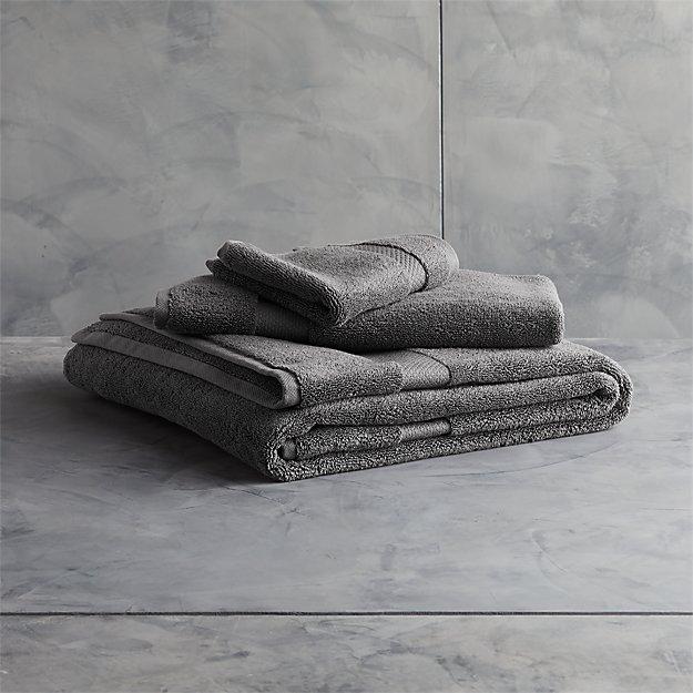 Slattery Dark Grey Bath Towels - Image 1 of 12