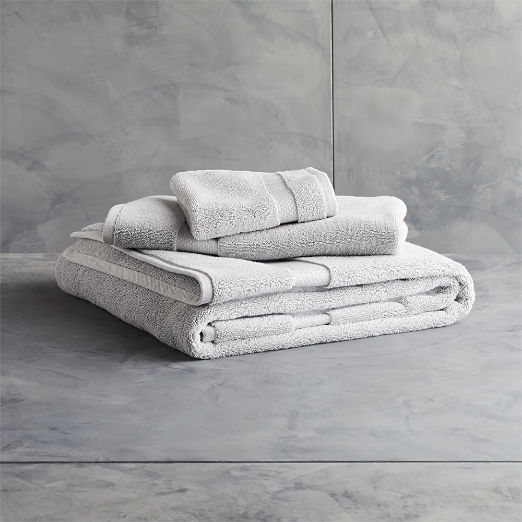 Slattery Silver Grey Bath Towels