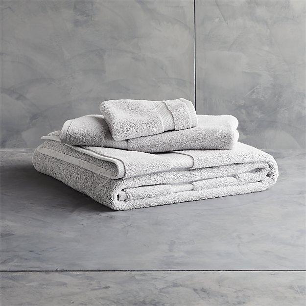 Slattery Silver Grey Bath Towels - Image 1 of 12