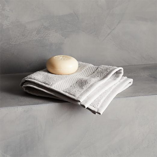 Slattery Silver Grey Washcloth