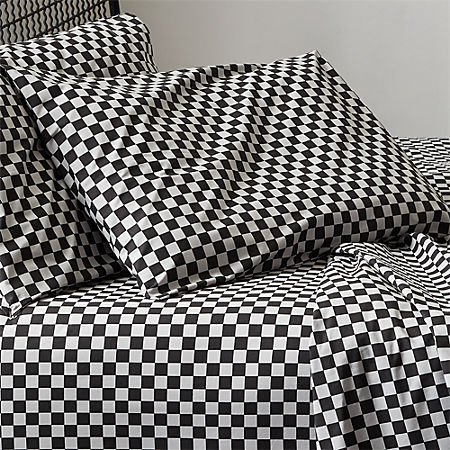 Pleasant Speciale Grey And Black Checkered Sheet Set Spiritservingveterans Wood Chair Design Ideas Spiritservingveteransorg