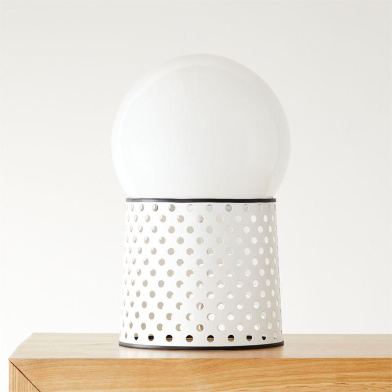Fabulous Voss White Globe Table Lamp Cb2 Inzonedesignstudio Interior Chair Design Inzonedesignstudiocom