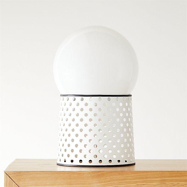 Voss White Globe Table Lamp - Image 1 of 9