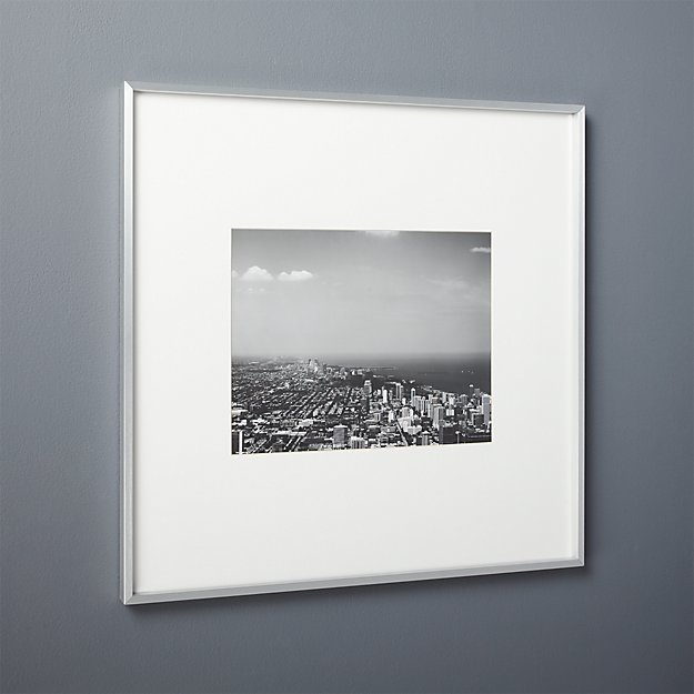 Gallery Brushed Silver 11x14 Picture Frame Reviews Cb2