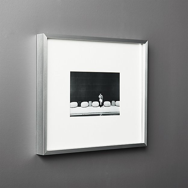 Gallery Silver Frame With White Mat 5x7 Reviews Cb2