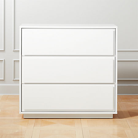 Gallery White 3 Drawer Chest