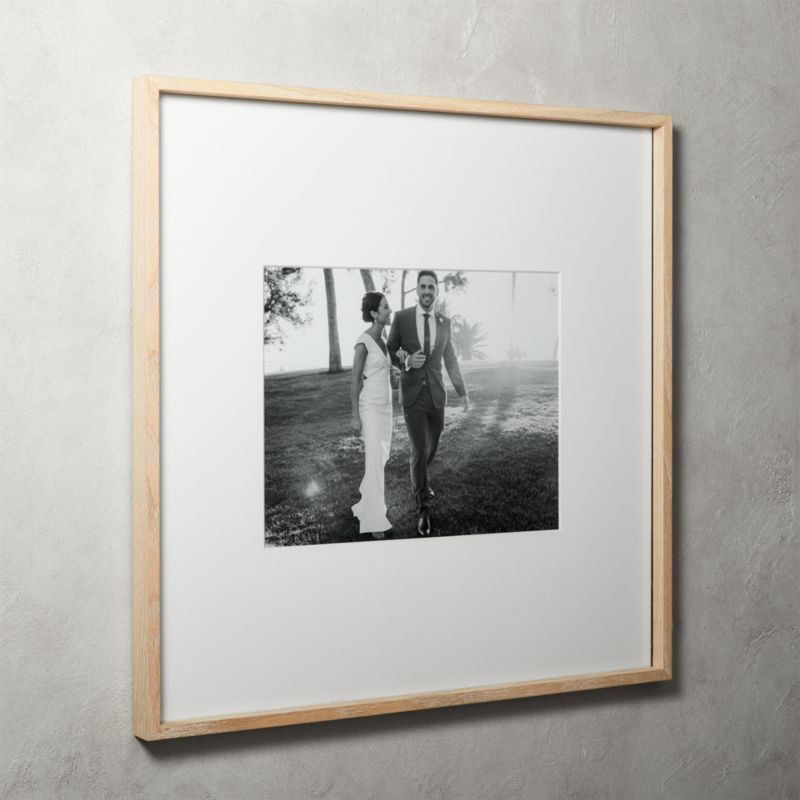 Gallery Oak Picture Frames With White Mat 11x14 Reviews Cb2