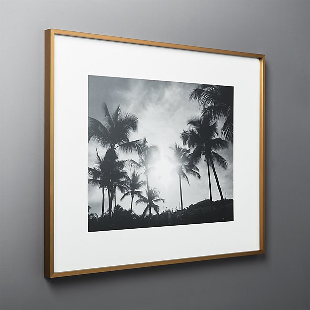 Gallery Brass Frame with White Mat 16x20 + Reviews | CB2