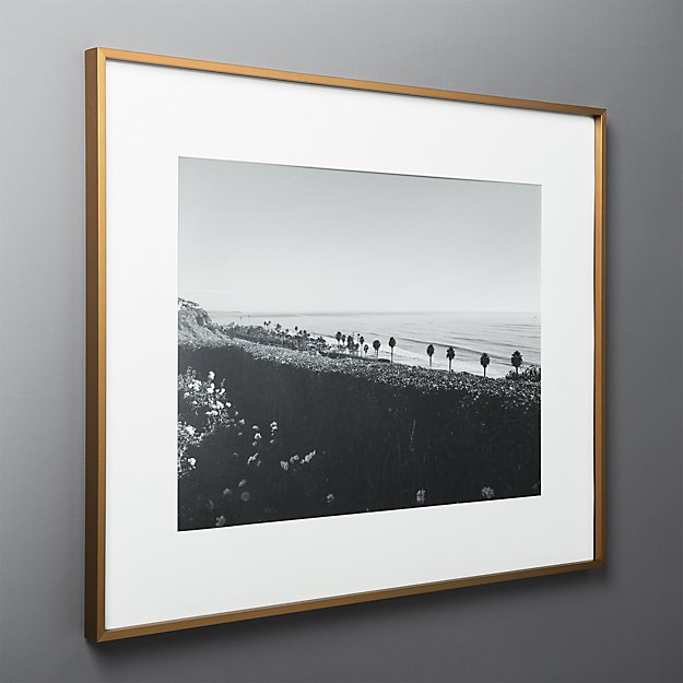 Gallery Brass Frame with White Mat 18x24 + Reviews | CB2