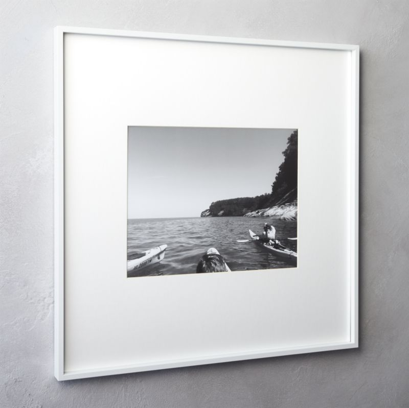 Gallery white 11x14 picture frame reviews cb2