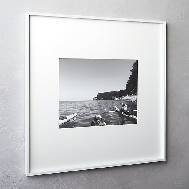 gallery white 11x14 picture frame + Reviews | CB2