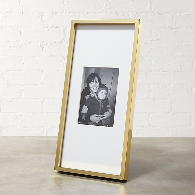 gallery brass 4x6 picture frame reviews cb2