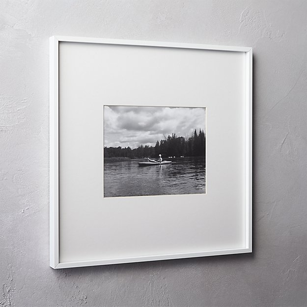 gallery white 8x10 picture frame + Reviews | CB2