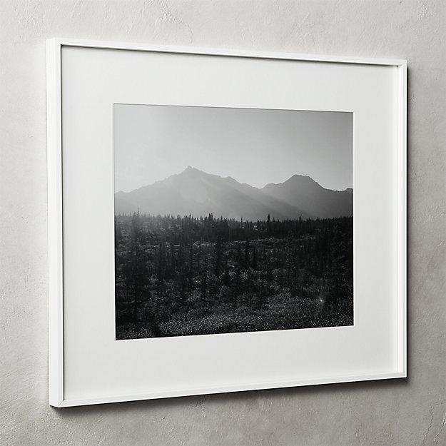 Gallery White Frame with White Mat 16x20 + Reviews | CB2