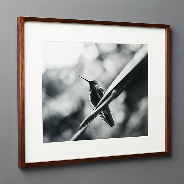 Gallery Walnut Frame with White Mat 16x20 + Reviews | CB2
