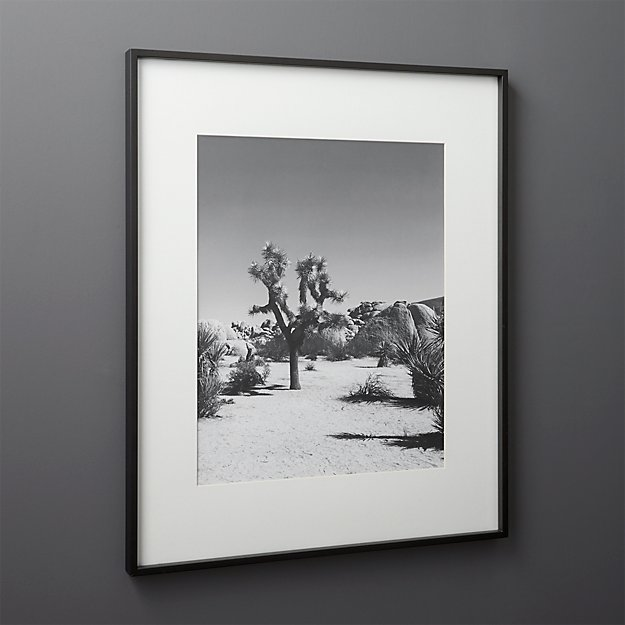 Gallery Black 16x20 Picture Frame With White Mat Reviews Cb2