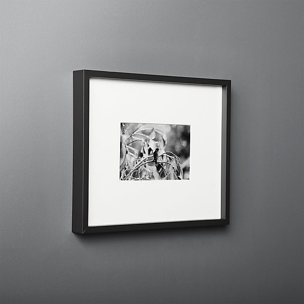 Gallery Black Frame With White Mat 4x6 Reviews Cb2