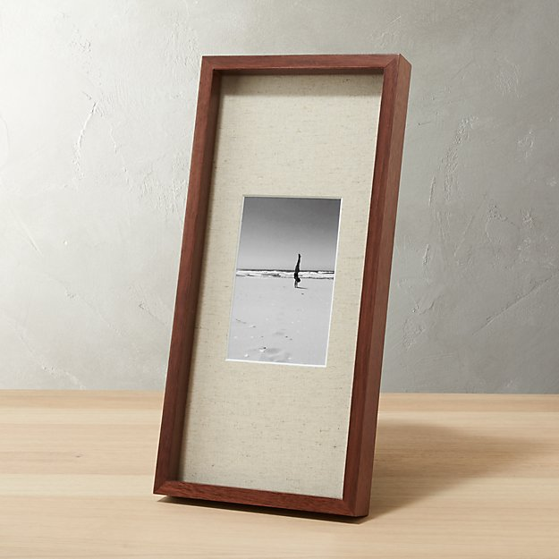 Gallery Walnut 4x6 Picture Frame With Linen Mat Reviews