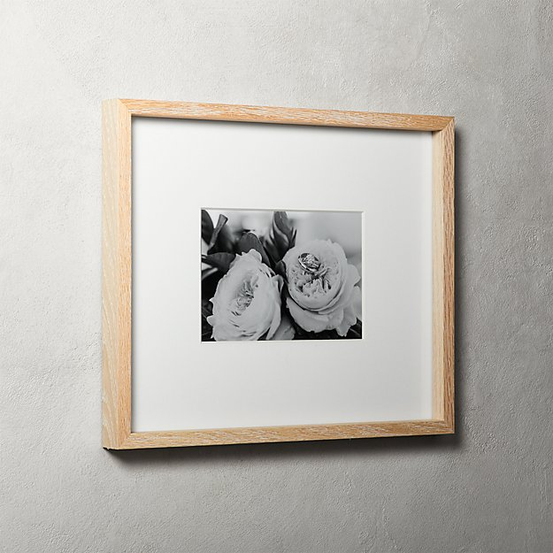 Gallery Oak Picture Frames with White Mat 5x7 + Reviews | CB2