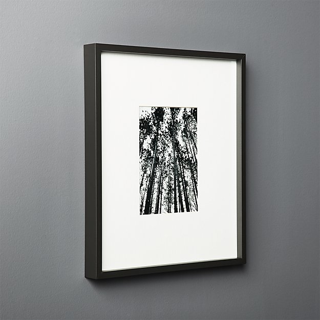 Gallery Black Frame with White Mat 5x7 + Reviews | CB2