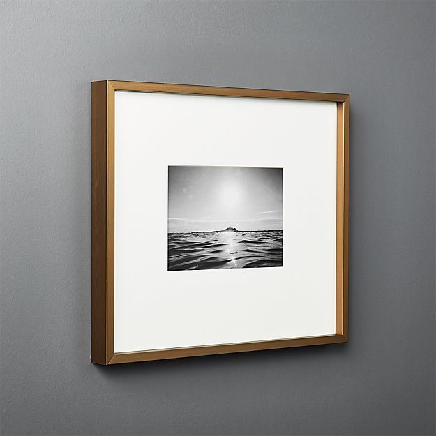 Gallery Brass Frame With White Mat 5x7 Reviews Cb2