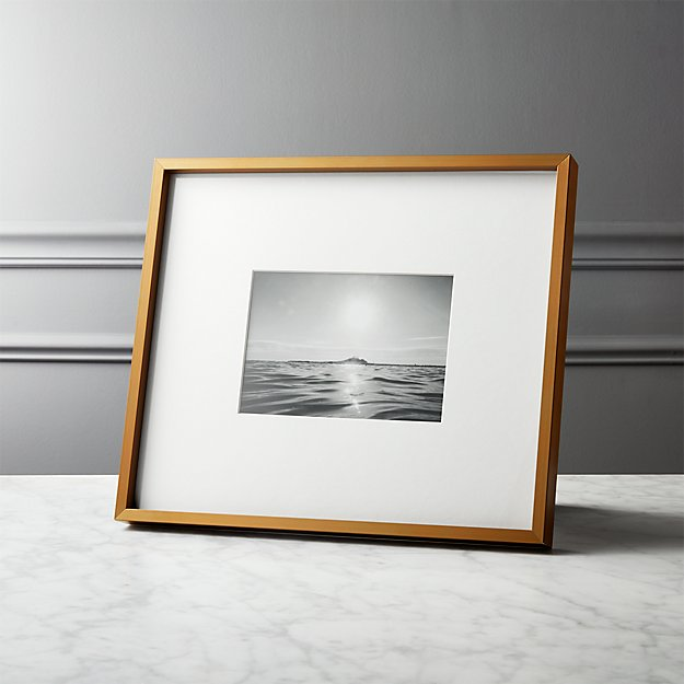 d9acb30547a8 Gallery Brass Frames with White Mats
