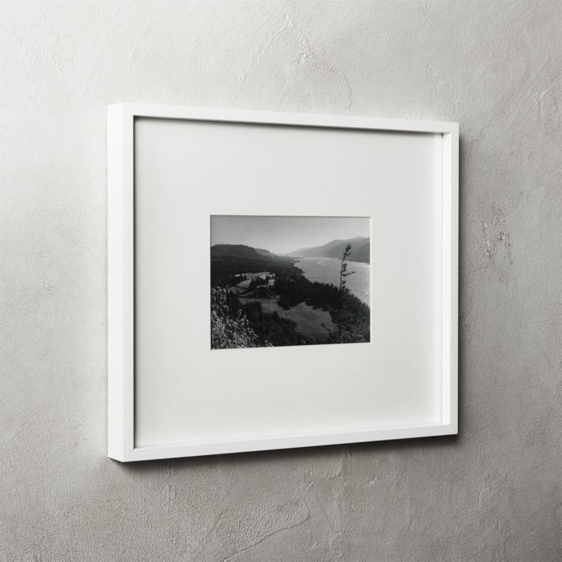 Gallery white frame with white mat 5x7