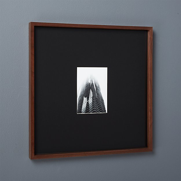 gallery walnut 5x7 picture frame with black mat