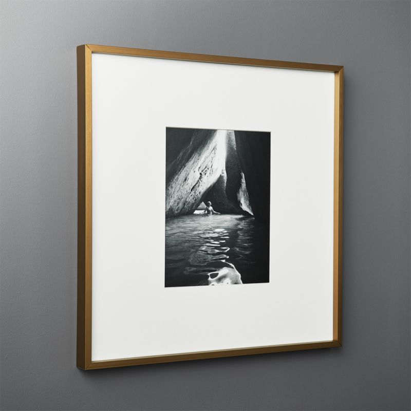 Gallery Br Frame With White Mat 8x10