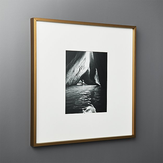 Gallery Brass Frame with White Mat 8x10 + Reviews | CB2