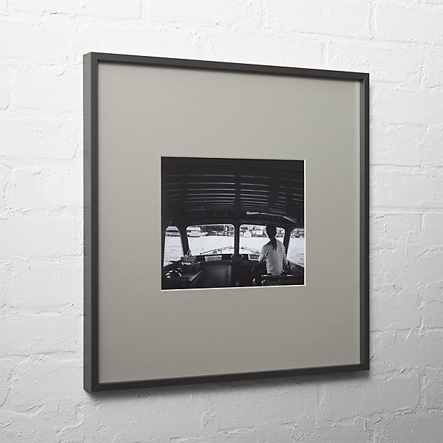 Gallery Black Picture Frames With Grey Mats Cb2