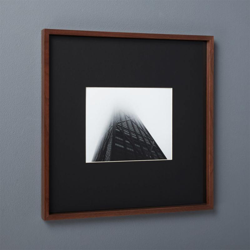 gallery walnut 8x10 picture frame with black mat + Reviews | CB2