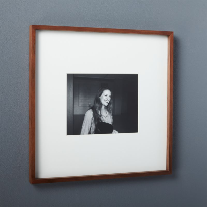 gallery walnut 8x10 picture frame + Reviews | CB2