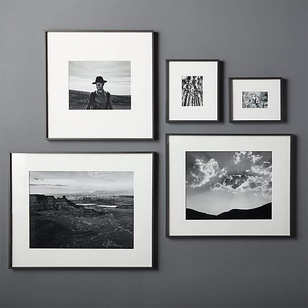 Gallery Black Frames with White Mats - Image 1 of 7