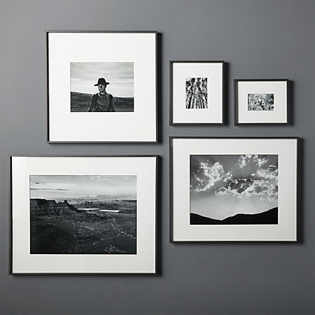 Gallery Black Frames With White Mats Cb2