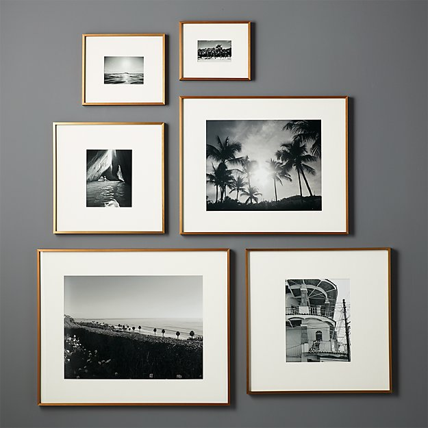 Gallery Brass Frames With White Mats Cb2