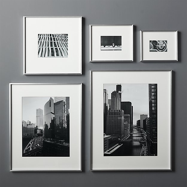 Gallery Silver Frames With White Mats Cb2