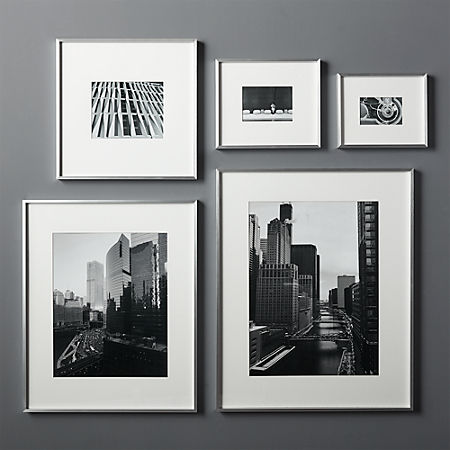 Gallery Silver Frames With White Mats