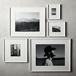 Gallery White Frames With Mats