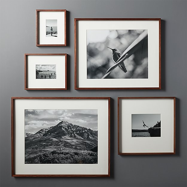 Gallery Walnut Frames With White Mats Cb2