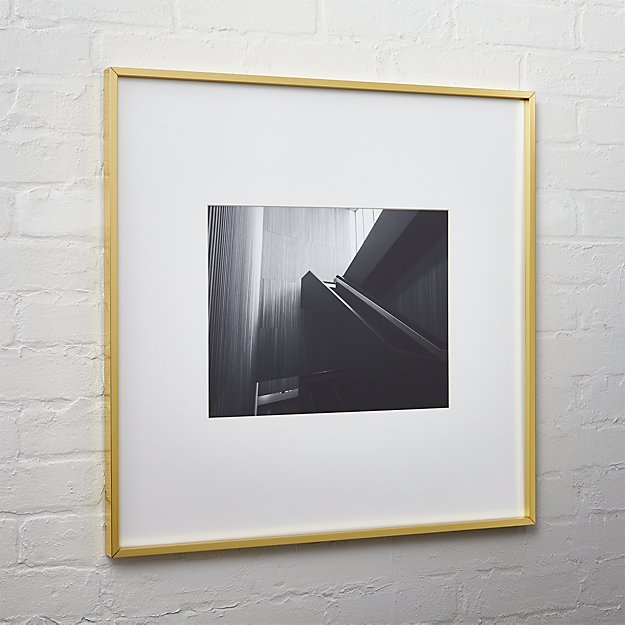 gallery brass picture frames | CB2