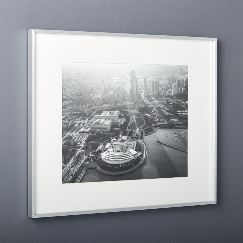 gallery brushed silver 18x24 picture frame + Reviews | CB2