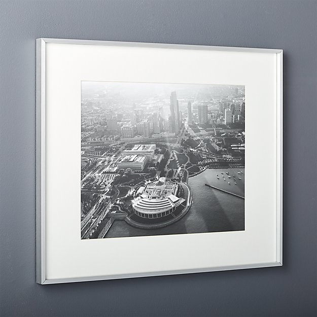 gallery brushed silver 16x20 picture frame reviews cb2