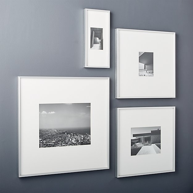 gallery brushed silver 11x14 picture frame + Reviews | CB2