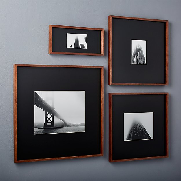 Gallery Walnut Picture Frames With Black Mats Cb2