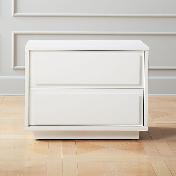 Gallery White 2 Drawer Nightstand Reviews Cb2 Canada