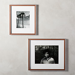 66ec587a61d3 Gallery Walnut and Silver Border Frames with White Mats