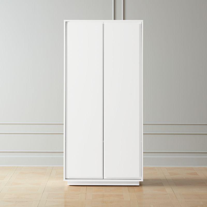 Gallery White 2 Door Wardrobe Reviews Cb2